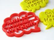 Custom Message in Speech Bubble Cookie Cutter, Personalized with Your Own Message