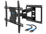 Mounting Dream TV Wall Mount Bracket for most 42�-70� LED/LCD TVs up to VESA 600×400mm, 100 LBS, TV Mount with Full Motion Swivel Articulating Arms, 6' HDMI Cab