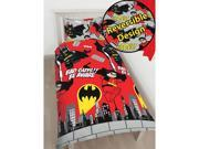 Lego DC Superheroes Batman Kapow 2 Piece UK Single/US Twin Sheet Set – 1 x Double Sided Sheet & 1 x Pillowcase  - Rotary Design
