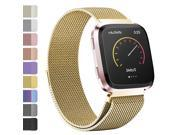 Fitbit Versa Bands, Stainless Steel Milanese Loop Metal Mesh Bracelet Sport Strap with Unique Magnet Lock Wristbands Replacement Band for Fitbit Versa - 38mm (G