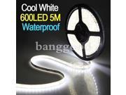 5M SMD 3528 600leds Waterproof Cool White Car Flexible Strip Lights Lamp 12V 9SIV1436770241
