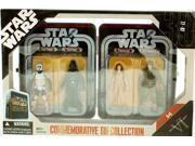 Star Wars Episode VI 6 Collectible Tin Action Figure Set RETURN OF THE JEDI with 4 Action Figures: Biker Scout Trooper, Darth Vader, Princess Leia Ewok, Rebel C 9SIAE7U6207643