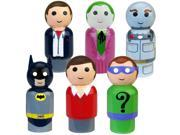 "Bif Bang Pow! Batman Classic TV Series Pin Mate Wooden Figure Set of 6 Collectible, 2"""""" 9SIAE7U6206764"