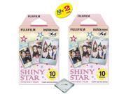 Fujifilm Instax Mini 8 Film For Fujifilm instax mini 8 camera 2-PACK (20 Sheets) Shiny Star