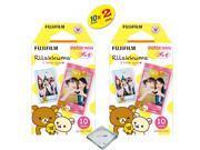Fujifilm Instax Mini 8 Film For Fujifilm instax mini 8 camera 2-PACK (20 Sheets) RiLakkuma