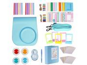 Neewer 10-in-1 Accessories Kit For Fujifilm Instax Mini 8/8s/9 Include Camera Case/Album/Selfie Lens/4Colored Filters/5Film Table Frames/20Wall Hanging Frame/40