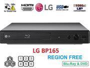 LG BP165 Region Free Blu-ray Player, Multi region 110-240 volts, 6FT HDMI cable & Dynastar Plug adapter bundle Package 9SIAE7U6EM0251