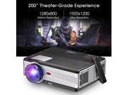 Home Theater Cinema Video Projector - 3500 Lumens LED LCD WXGA Multimedia Movie Gaming HD 1080P 720P for DVD, Blu Ray, Android Smartphone, PC, TV, Xbox, Wii, PS 9SIAE7U6FT9524
