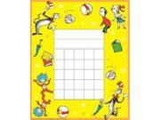 Eureka Dr. Seuss Cat In The Hat Mini Reward Charts With Stickers, Package of 36