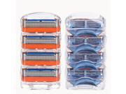 GFLV 8pcs 5 Layers Blades Shaving Razor Shaver Heads Replacement for Gillette 9SIAE8U6PW9457