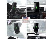 Qi Wireless Car Fast Charger Stand Samsung Galaxy S8/S7/S7 Edge iPhone 8 Plus