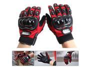 One Pair PRO-BIKER MCS-01C Breathable Wearable Full Finger Protective Motorcycle Gloves Outdoor Sports Keep Warm Gloves, Size: XL(25-27cm)(Red) 9SIAEG28369038