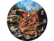 """Dragons of Runnering Wall Clock By Alchemy Gothic Round Plate 13.5""""""""D"""" 9SIAEGD6639448"""