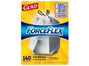 Glad ForceFlex Tall Kitchen Drawstring Trash Bags, 13 Gallon (140 ct.)  - Trash Bags