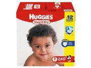 Huggies Snug & Dry Diapers  - Diaper Size 3 - 240 Ct. ( Weight 16- 28 Lbs.) (Comfortable baby diaper)