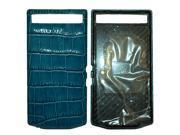 Porsche Design Leather Battery Door Cover for BlackBerry Porsche Design P'9982 Smartphone - Crocodile Hydro Blue