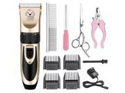 Pet Grooming Clippers Rechargeable Cordless Pet Grooming Kit with 4 Comb Attachments 4 Extra Tools for Dogs Cats and other Family Pets Hair Shave 9SIV1NN7FC5897