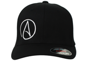 Atheist Offset Symbol Curved Bill Baseball Hat Flexfit-Black LG/XL 9SIAENF6CX1183