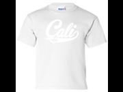 Cali Bear Logo Youth T-Shirt/tee - White Small 9SIAENF6D26567