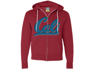Cali Knit Style Logo Zip-Up Hoodie - Red Small 9SIAENF6RP7454