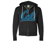 Cali Knit Style Logo Zip-Up Hoodie - Black Large 9SIAENF6RP7350