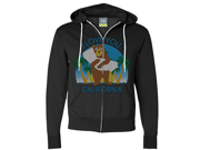 I Love You CA Knit Style Bear Zip-Up Hoodie - Black 3X-Large 9SIAENF6RP6946