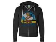 I Love You SF Knit Style Bear Zip-Up Hoodie - Black Large 9SIAENF6RP6771