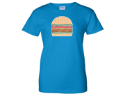Glitter Sparkle Burger Ladies T-Shirt - Sapphire Medium 9SIAENF6R67771