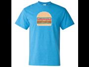 Glitter Sparkle Burger T-shirt/tee - Heather Sapphire Medium 9SIAENF6R75732