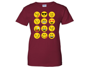 Emoji Ladies T-Shirt - Cardinal Red Large