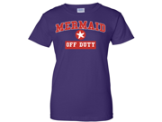 Off Duty Mermaid Ladies T-Shirt - Purple XX-Large