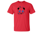 Cute Panda Star Glasses T-shirt/tee - Red Small 9SIAENF6V60000