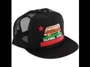 California Republic Vintage Van Snapback Mesh Truckers Cap - Black