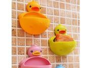 1 PCS Cute Duck Design Soap Dishes Candy Color Bathroom Suction Cup Shower Duck Soap Dish Case Toothbrush Holder Gift 9SIAENU6EY0455
