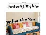 9 Designs/sheet playing cats animals wall stickers kids room decoration home decals kitten printing mural art cartoon diy poster 9SIAENU6EX9616