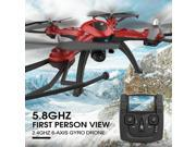 JJRC H25G 720P FPV Video Playback 2.4Ghz 4CH 3D Tumbling CF Mode LED Control Mode 2 RC Quadcopter RTF - Red