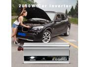 2000W DC to AC Power Converter DC 12V to 110V 220V AC USB Car Transformer 9SIAEU96TC8794