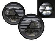 Motorcycles LED 7 inch Round Headlight Black for Harley Davidson RHD 9SIAEVJ7TC0383