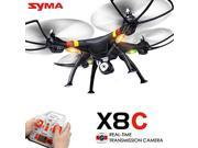 2016 Syma X8C Venture 4_Channel 2.4GHz 6 Axis RC Remote Control Quadcopter with 2MP HD Camera Drone Black