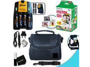 Complete ACCESSORIES KIT for Fujifilm Instax Mini 90 Neo Classic, Mini 90 Black, Mini 90 Brown w_ 20 Instax Film + Custom Case +