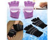 5V USB Powered Half Finger Heating Heated Winter Hand Warmer Gloves X'mas Gift 9SIAF737BV4127