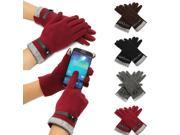 Fashion Cute Womens Touch Screen Winter Warm Weaved Knit Wrist Gloves Mittens 9SIAF737BV5519