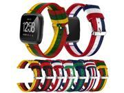 Bakeey Replacement Colorful Woven Nylon Fabric Sport Wristband Strap for Fitbit Versa