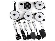 1221 11pcs Simulation Kitchen Utensils Toy-WHITE