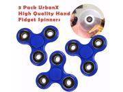 3 PACK FIDGET SPINNER TOY EDC ADHD STRESS RELIEF - BLUE