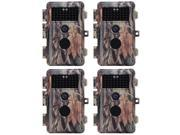 [Upgraded] BlazeVideo 4-Pack Hunting Game Camera 16MP HD 1080P Video Trail Scouting Hunters Wildlife Cam No Glow Infrared Night Vision Up to 65ft, 38IR LEDs , V thumbnail