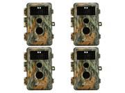 "[Upgraded] BlazeVideo 4-Pack Game Trail Deer Camera 16MP 1080P No Glow Infrared LEDs 2.36"" LCD Wildlife Hunting Cam Night Vision 65ft PIR Motion Activated Senso thumbnail"