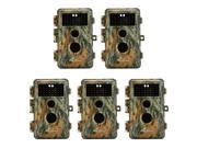 "[Upgraded] BlazeVideo 5-Pack Game Trail Deer Camera 16MP 1080P No Glow Infrared LEDs 2.36"" LCD Wildlife Hunting Cam Night Vision 65ft PIR Motion Activated Senso thumbnail"