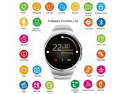 Bluetooth Smart Watch, Collasaro 1.3 inches IPS Round Touch Screen Water Resistant Smartwatch Phone with SIM Card Slot,Sleep Monitor,Heart Rate Monitor and Pedo