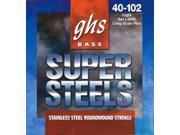 GHS Strings L5000 Super Steels Bass Nickel Plated Guitar Strings, Light 9SIAFCN6S19077